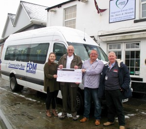 Hare & Hounds cheque presentation
